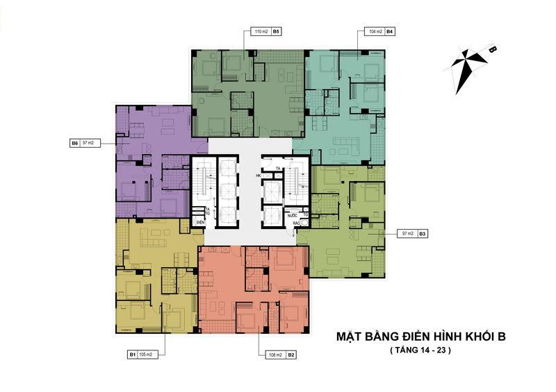 Tháp B - Căn hộ từ tầng 14-21